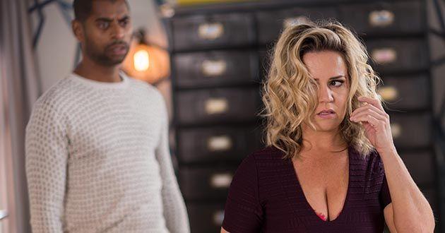 Joanne Cardsley traps Louis Loveday in Hollyoaks