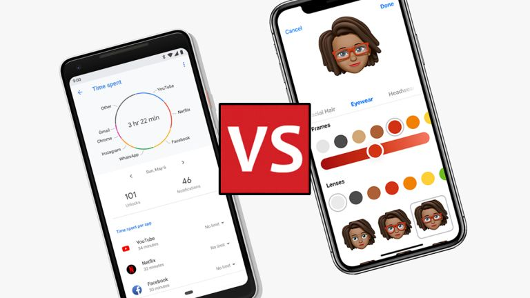 Android P vs iOS 12