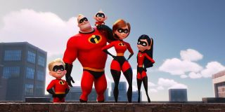 The Incredibles family in the 2018 sequel