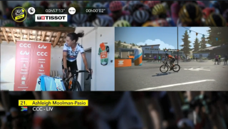 Ashleigh Moolman-Pasio wins the Virtual Tour de France Ventoux stage