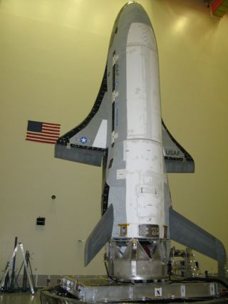 X-37B/OTV in for final tests before test flight in 2010.