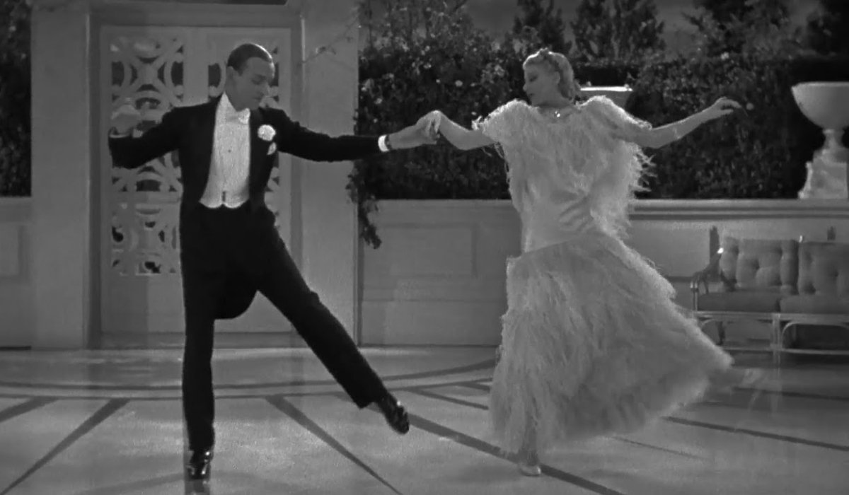 Top Hat Fred Astaire and Ginger Rogers in mid-dance
