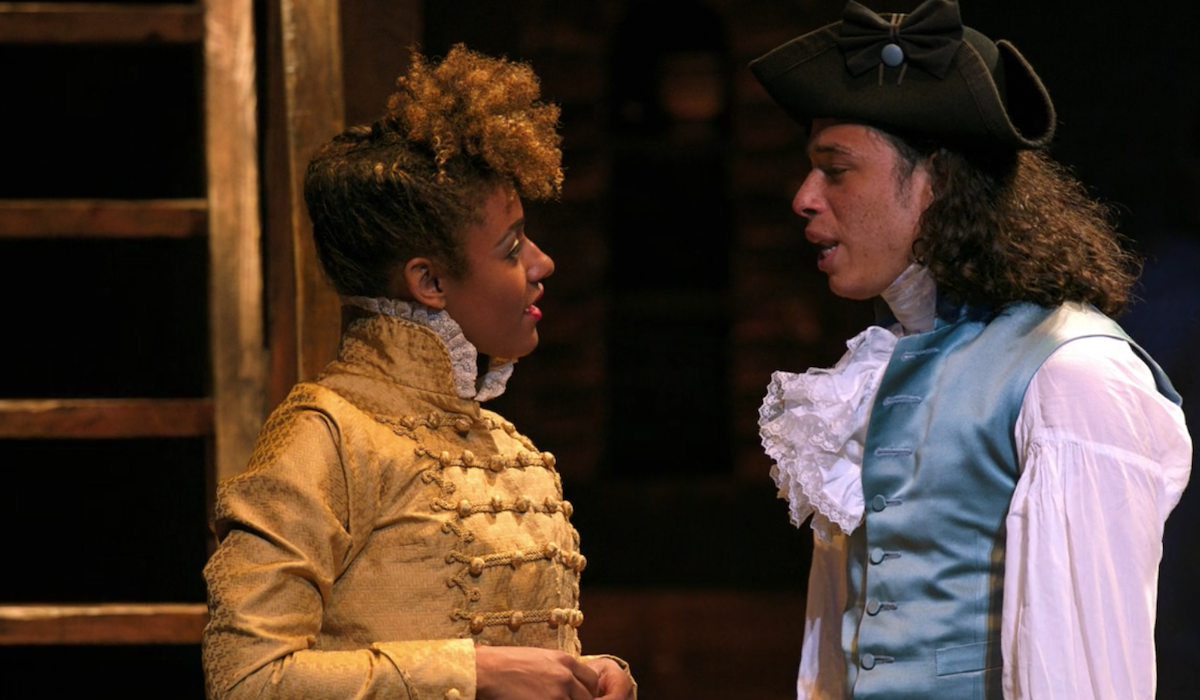 Ariana DeBose as The Bullet and Anthony Ramos as Philip Hamilton