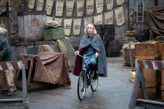 Call the Midwife favourite Trixie rides her bike