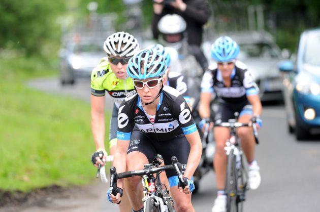 Emma Pooley heads break, British road race national championships 2011