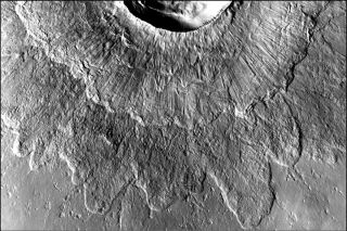 Double Layer Ejecta Crater on Mars