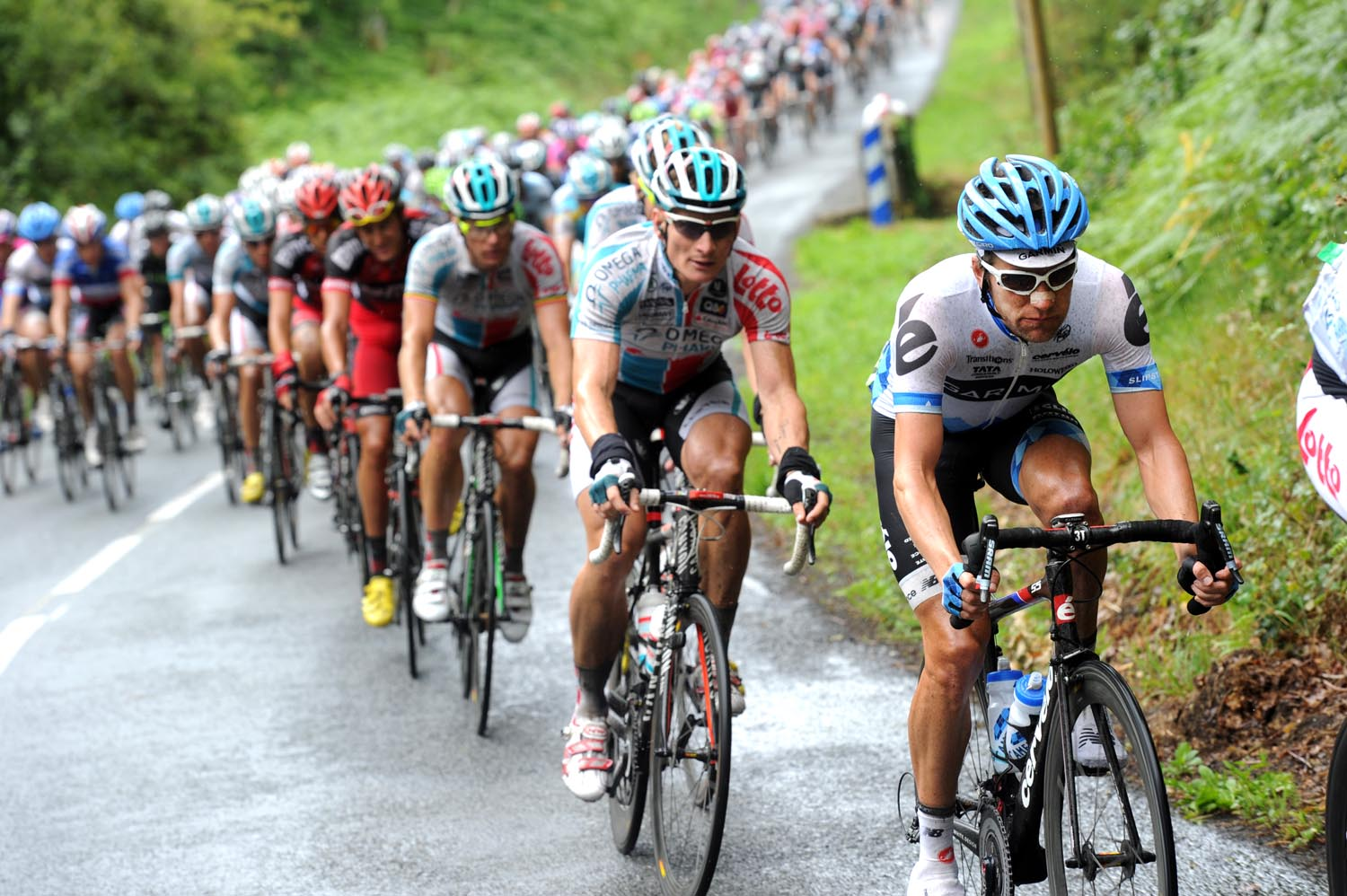 David Zabriskie on the front, Tour de France 2011, stage four