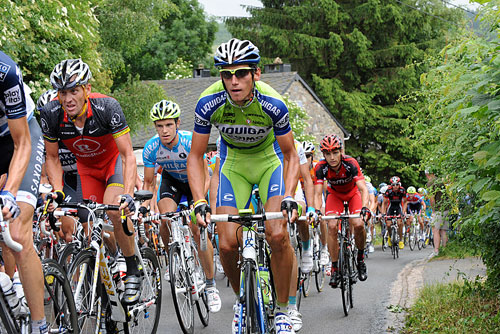 Roman Kreuziger and Lance Armstrong on Stockeu, Andy Jones at the Tour de France 2010