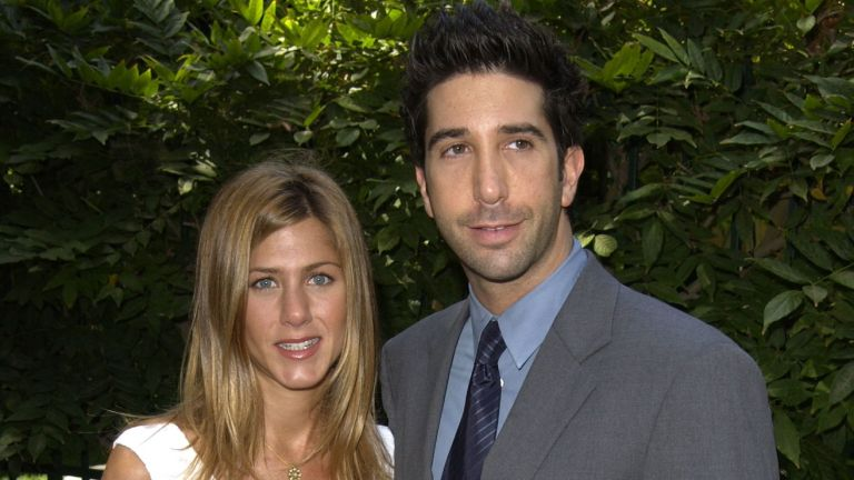 Jennifer Aniston and David Schwimmer during annual benefit