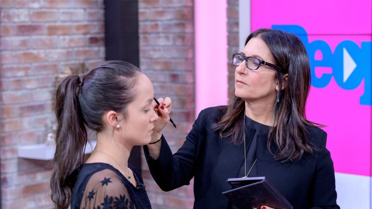 NEW YORK, NEW YORK - DECEMBER 09: (EXCLUSIVE COVERAGE) Model Alexa Bodine gets made up by Bobbi Brown as she visits People Now to discuss her Masterclass on December 09, 2019 in New York, United States. (Photo by Roy Rochlin/Getty Images)