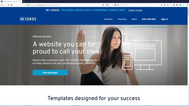 IONOS offers a decent website builder