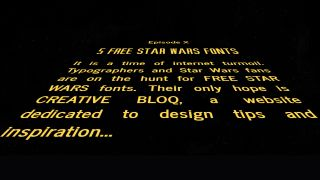 Star Wars fonts: opening crawl