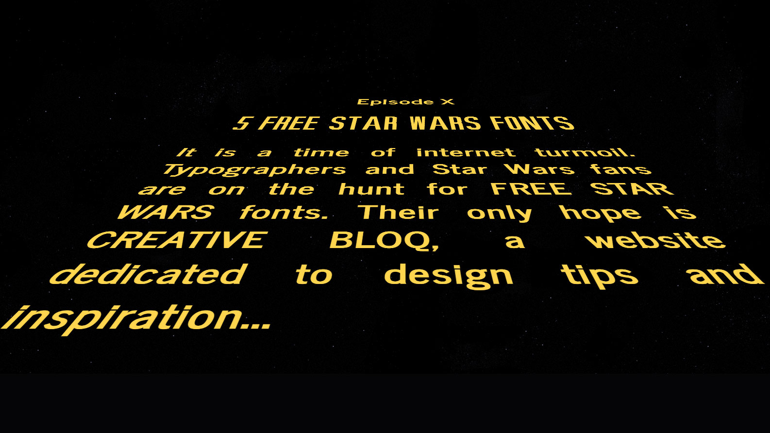 6 free Star Wars fonts | Creative Bloq