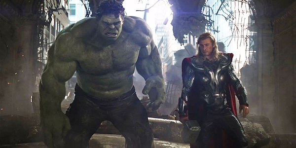 Hulk and Thor in Avengers: Age of Ultron