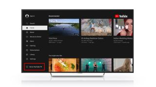YouTube TV in the YouTube app on Roku