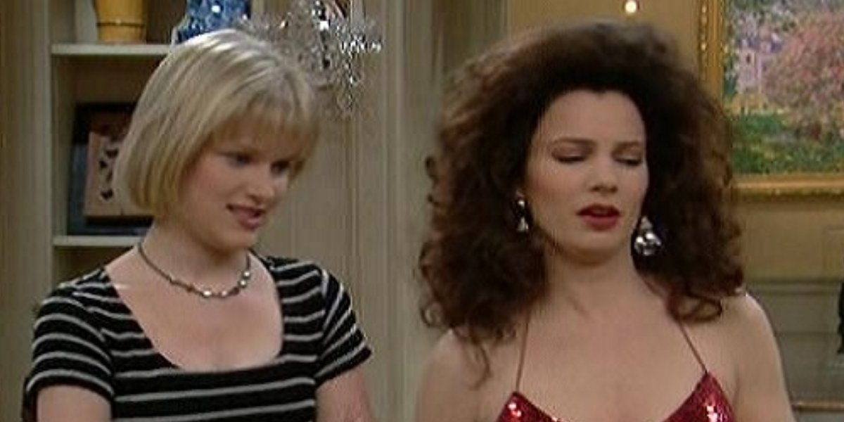 Nicholle Tom and Fran Drescher on The Nanny