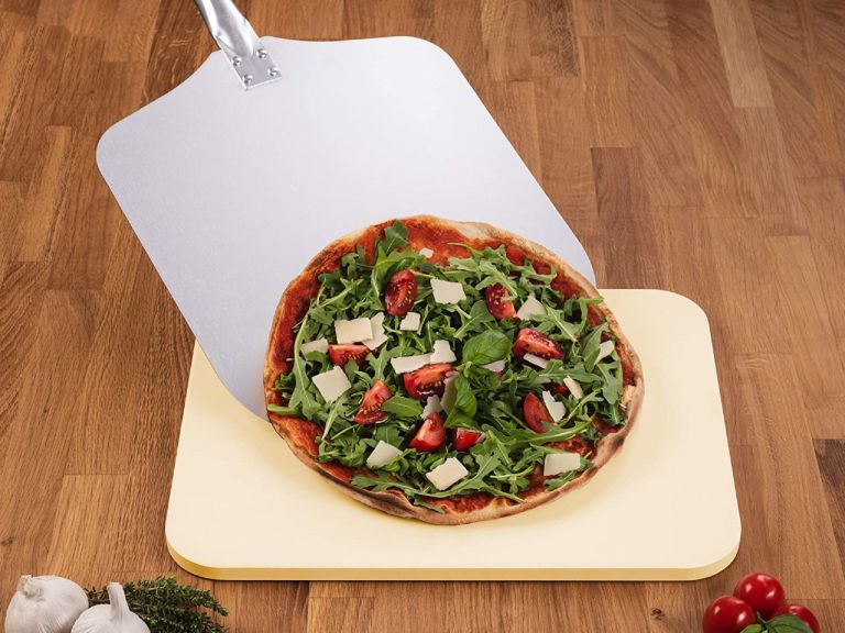 Pizza oven - Blumtal Pizza Stone with Paddle - Amazon's choice