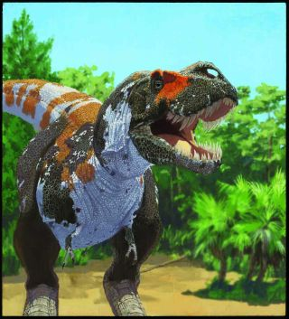 Tyrannosaurus rex declined slowly toward extinction.