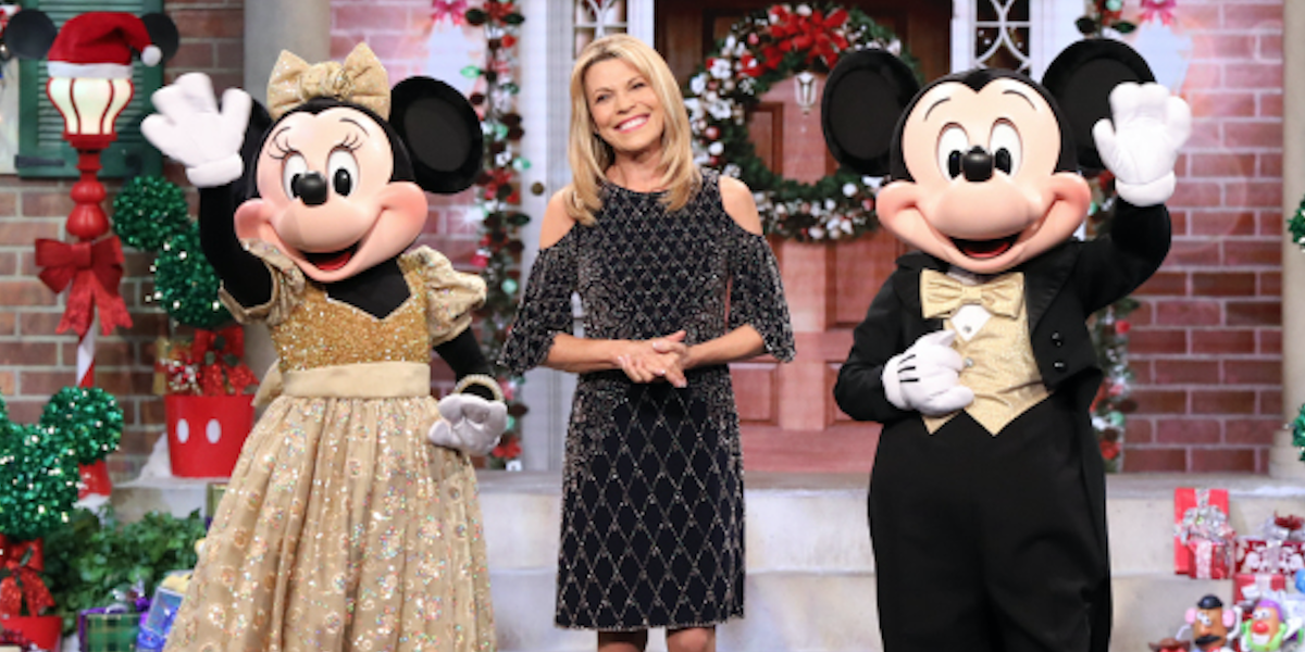 vanna white wheel of fortune with mickey and minnie