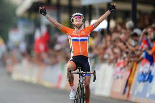Marianne Vos (Netherlands) won her last elite women's road race world title at the 2013 UCI Road World Championships in Firenze