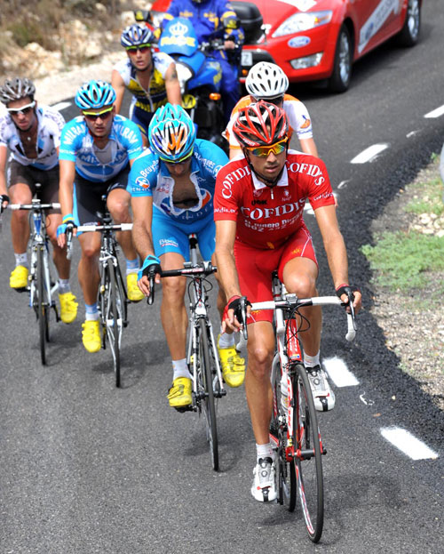 David Moncoutie, Vuelta a Espana 2009, stage eight