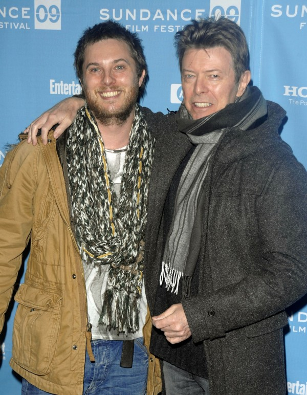 Duncan Jones and his father David Bowie in 2009