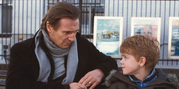 Liam Neeson with Thomas Brodie-Sangster in Love Actually