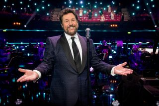 Michael Ball on stage for BBC1's Musicals: The Greatest Show.