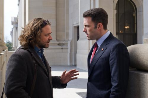 State of Play - Russell Crowe as investigative reporter Cal McAffrey & Ben Affleck as congressman Stephen Collins