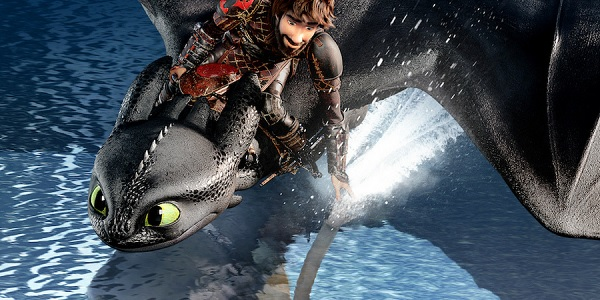 How To Train Your Dragon: The Hidden World Hiccup and Toothless glide over the water
