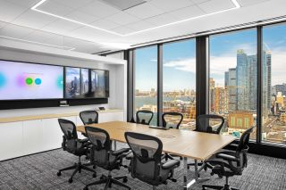 MarketAxess renovated three floors of office space located prominently in the Hudson Yards development in New York City.