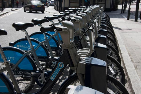 Docked bikes, London Cycle Hire