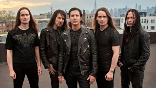 Stapp, centre, with Art Of Anarchy