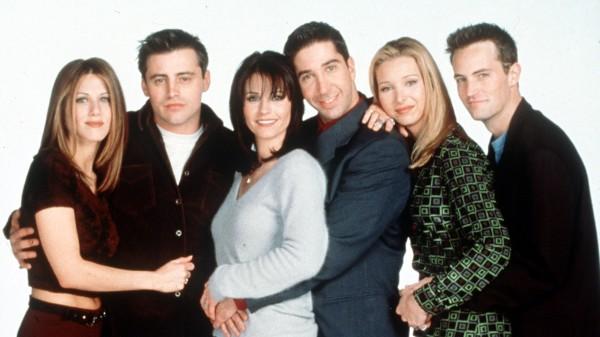 The cast of Friends: Jennifer Aniston, Matt LeBlanc, Courteney Cox, David Schwimmer, Lisa Kudrow and Matthew Perry