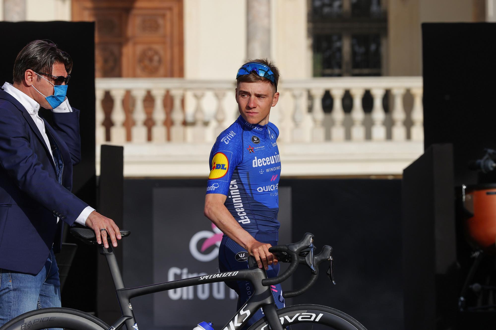 Giro d'Italia 2021 - 104th Edition - Torino - Castello del Valentino - Team Presentation - 06/05/2021 - Remco Evenepoel (BEL - Deceuninck - Quick-Step) - photo Luca Bettini/BettiniPhoto©2021