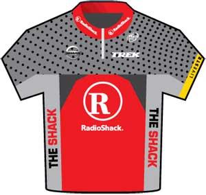RadioShack jersey Tour de France 2010