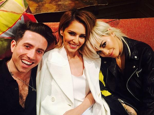 X Factor judges Nick Grimshaw, Cheryl Fernandez-Visini and Rita Ora