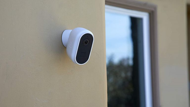 Swann Wire-Free Security Camera on outside wall