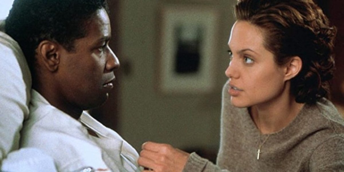 Denzel Washington and Angelina Jolie in The Bone Collector