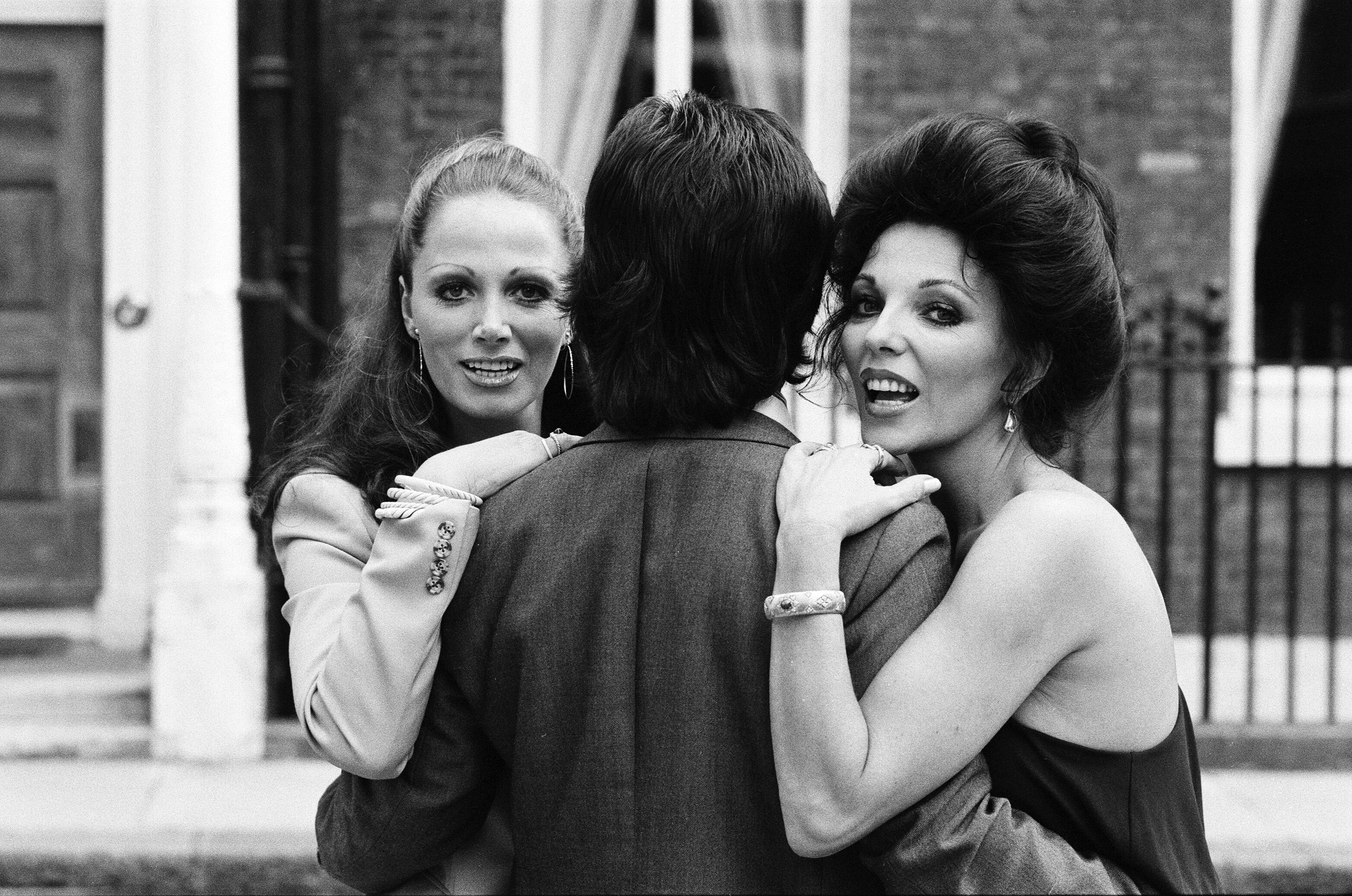 Jackie Collins and sister Joan joineed forces to promote films The Stud and The Bitch in the 1970s.