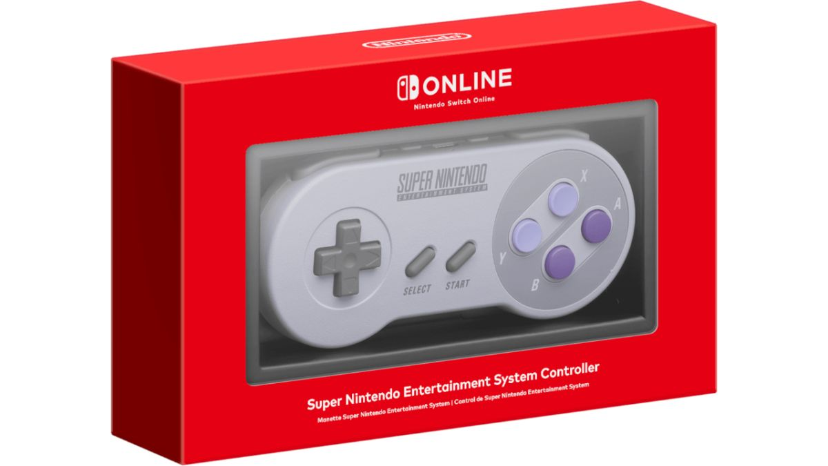 The Super Nintendo controller for Switch is available for purchase
