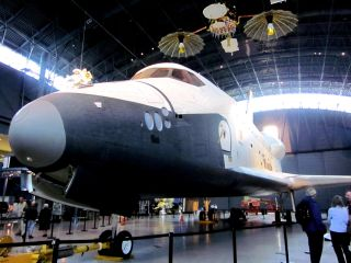 Space Shuttle Enterprise's Enterprise's Last day at the Smithsonian.