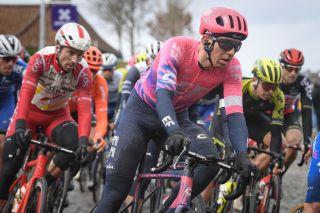 EF Pro Cycling's Sep Vanmarcke at the 2020 Omloop Het Nieuwsblad