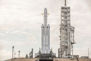 SpaceX plans to launch its huge new Falcon Heavy rocket for the first time on Feb. 6, 2018, during a 3-hour window that opens up at 1:30 p.m. EST. It is the most powerful U.S. rocket since NASA's Saturn V. The booster is essentially three Falcon 9 rockets