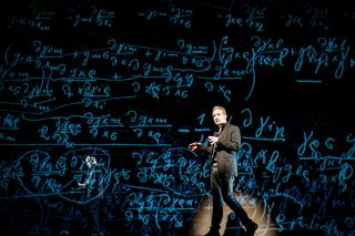 Theoretical physicist and science popularizer Brian Greene presenting at the World Science Festival.