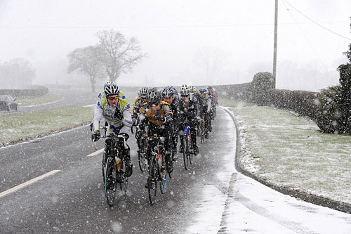 Braving the elements, Tour de Nock, January 2010