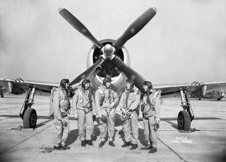 Test Pilots at a National Advisory Committee for Aeronautics facility