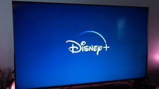 Disney Plus on a television
