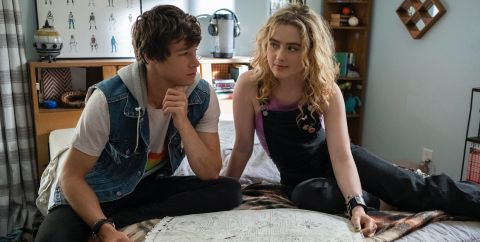Kyle Allen and Kathryn Newton play teenagers stuck together in a time loop in Ian Samuels' 'The Map of Tiny Perfect Things'.