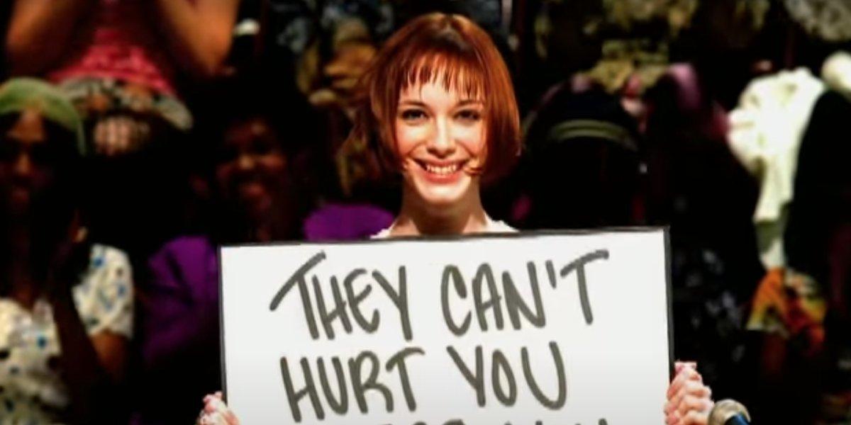"Christina Hendricks in the music video for Everclear's ""One Hit Wonder"""